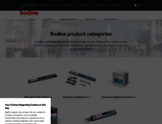 bodine.com screenshot