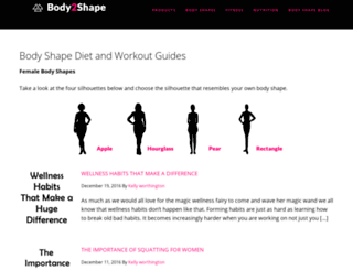 body2shape.com screenshot