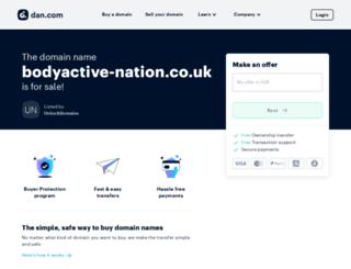bodyactive-nation.co.uk screenshot