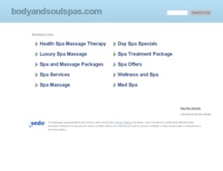 bodyandsoulspas.com screenshot