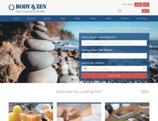 bodyandzen.com.au screenshot