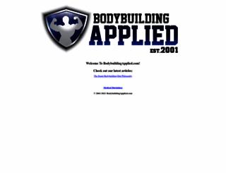 bodybuildingapplied.com screenshot