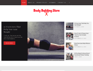 bodybuildingstore.in screenshot