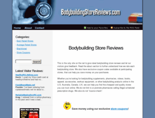 bodybuildingstorereviews.com screenshot