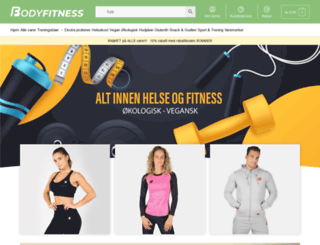 bodyfitness.no screenshot