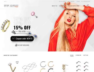 bodyjewelry4sale.com screenshot