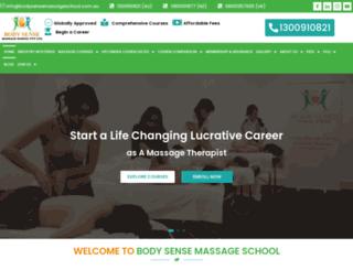 bodysensemassageschool.com.au screenshot