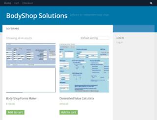 bodyshopsolutions.com screenshot