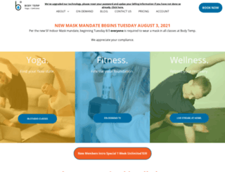 bodytempyoga.com screenshot