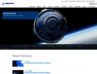 boeing.mediaroom.com screenshot