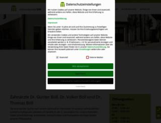 boell-zahnaerzte.de screenshot