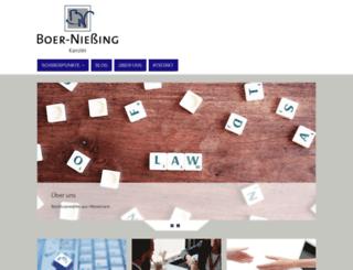 boer-niessing.de screenshot