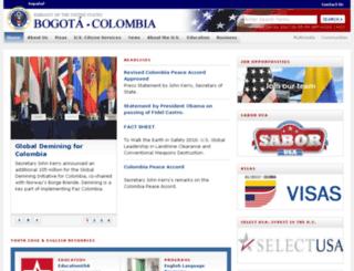 bogota.usembassy.gov screenshot