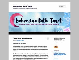 bohemianpathtarot.wordpress.com screenshot