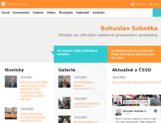 bohuslavsobotka.cz screenshot