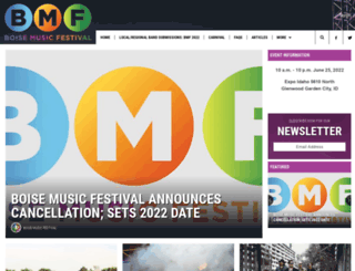 boisemusicfestival.com screenshot