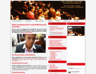 bokaunderhallning.se screenshot