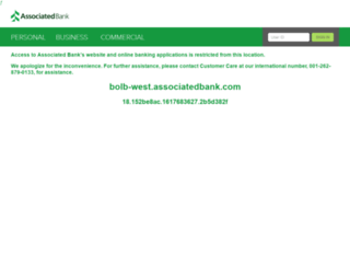 bolb-west.associatedbank.com screenshot