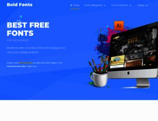 boldfonts.com screenshot