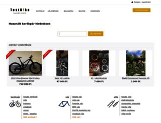 bolha.testbike.hu screenshot