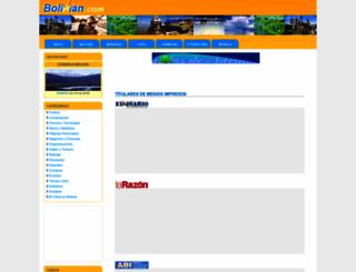 bolivian.com screenshot