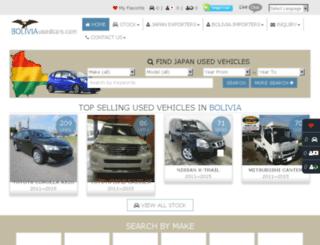 boliviausedcars.com screenshot