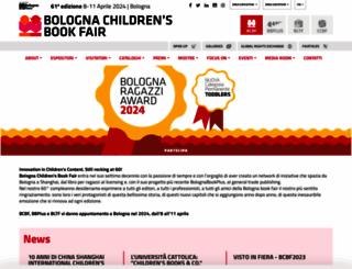 bolognachildrensbookfair.com screenshot