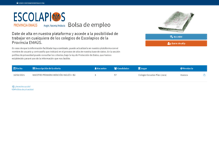 bolsadeempleo.escolapiosemaus.org screenshot