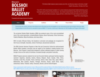 bolshoiballetacademy.com screenshot
