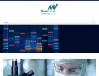 bonanovagenetics.es screenshot