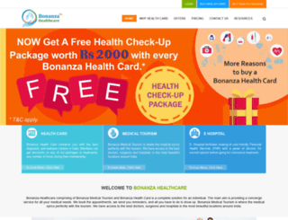 bonanzahealthcare.com screenshot