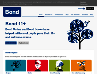 bond11plus.co.uk screenshot