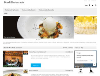 bondirestaurants.com.au screenshot