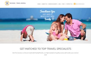 bondstravel.com screenshot