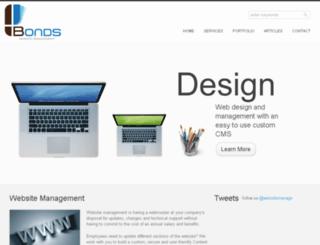 bondswebsitemanagement.com screenshot