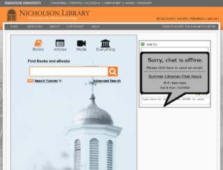 bones.anderson.edu screenshot