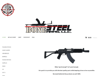 bonesteelarms.com screenshot