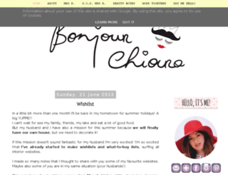 bonjourchiara.blogspot.it screenshot