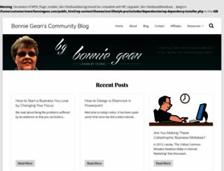 bonniegean.com screenshot
