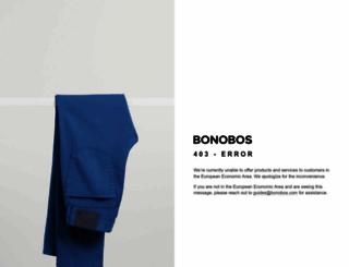 bonobos.com screenshot
