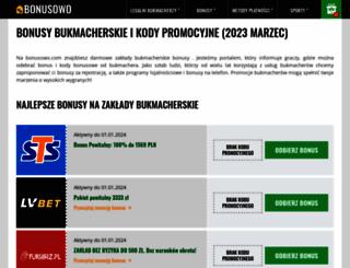 bonusowo.com screenshot