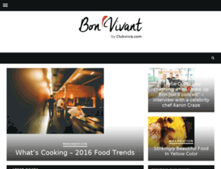bonvivant-mag.com screenshot