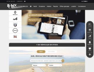 bonyautomobiles.com screenshot
