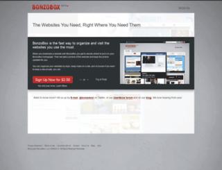 bonzobox.com screenshot