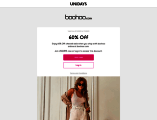 boohoo.myunidays.com screenshot