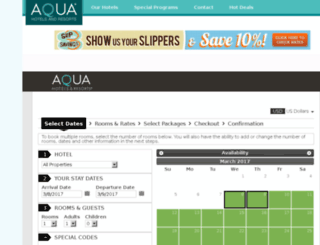 book.aquaresorts.com screenshot