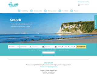 book.awayresorts.co.uk screenshot