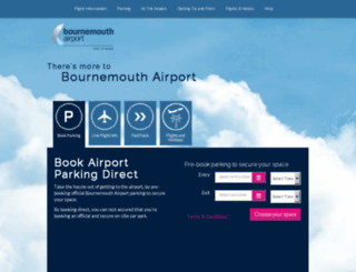 book.bournemouthairport.com screenshot