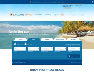 book.suncountry.com screenshot
