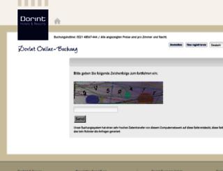 booking.dorint.com screenshot